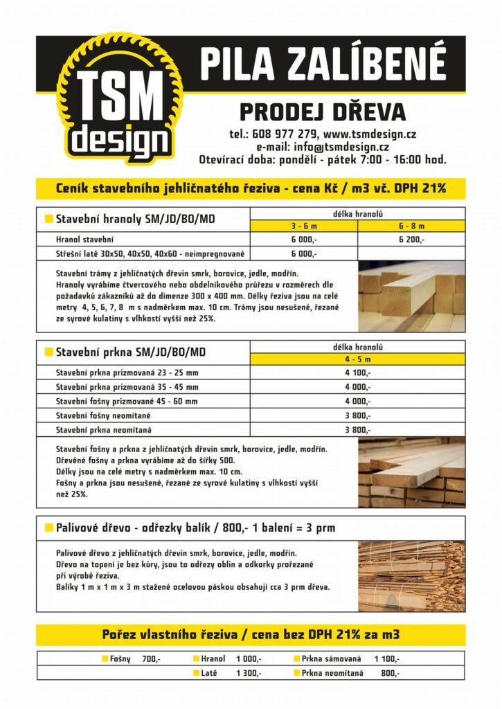 Pila Zalíbené - Prodej dřeva